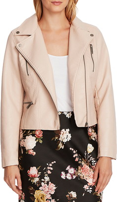 Vince Camuto Textured Faux Leather Moto Jacket