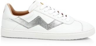 Stuart Weitzman Daryl Metallic Leather Sneakers
