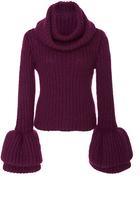 Brandon Maxwell Bell Sleeve Sweater