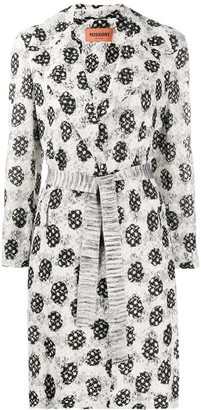 Missoni Abstract-Pattern Belted Coat