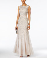 Adrianna Papell Sequined Mermaid Gown