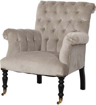 Carter Sinclair Hurley Chair Grey Velvet