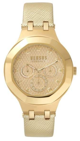 Versace Laguna City Multifunction Leather Strap Watch, 40mm