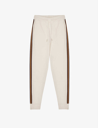 Reiss Danica side-stripe stretch-jersey jogging bottoms