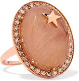 Andrea Fohrman 14-karat Rose Gold, Quartz And Diamond Ring