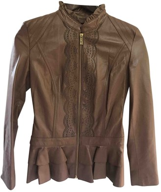 ALICE by Temperley Brown Leather Jacket for Women