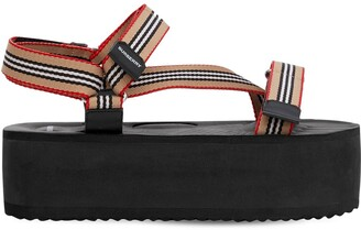 Burberry 60mm Patterson Nylon Sandals