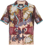 Rochas Full Embroidered Bowling Shirt