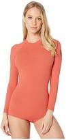 Rip Curl G Bomb Long Sleeve Back Zip UV Surfsuit (Rust) Women's Swimwear