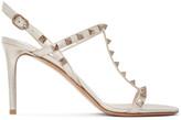 Valentino Beige Garavani Rockstud Slingback Sandals
