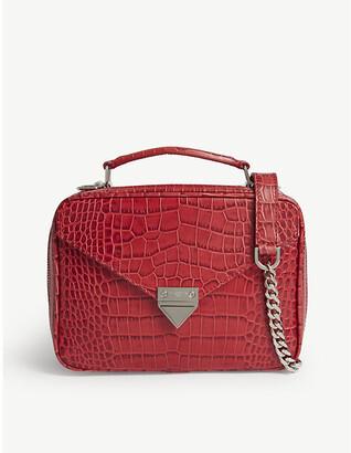 The Kooples Croc-embossed leather shoulder bag