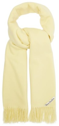Acne Studios Canada Wool Scarf - Womens - Yellow