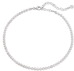 Majorica Simulated Pearl Strand Necklace in Sterling Silver, 13