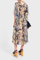 Rochas Printed Pleat Dress