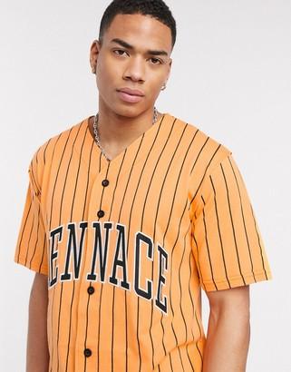 Mennace baseball shirt with logo in orange stripe