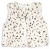 Lili Gaufrette Toddler's & Little Girl's Faux Fur Cheetah-Print Vest