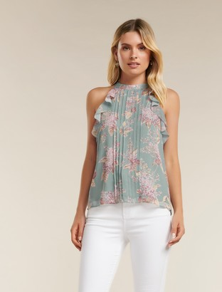 Forever New Michelle Ruffle Tank - Mist Floating Blossom - 12