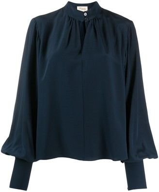 Temperley London Cut-Out Puff Sleeved Blouse