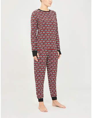 DKNY Wish List striped jersey pyjama set