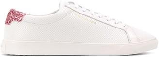 Saint Laurent Andy sequin heel sneakers