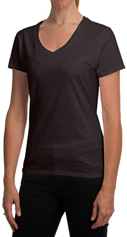 Hanes Nano T-Shirt - V-Neck, Short Sleeve (For Women)