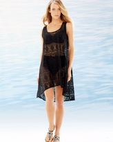 Soma Intimates Crochet Tunic Cover Up Black