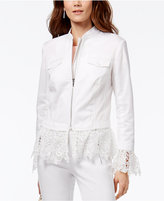 INC International Concepts Lace-Trim Jacket, Only at Macy's