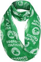 Women's Forever Collectibles Boston Celtics Logo Infinity Scarf