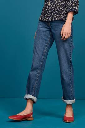 Next Womens Dark Blue Boyfriend Jeans - Blue