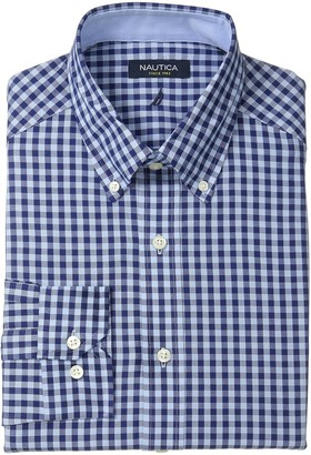 Nautica Men's Oversized Gingham Button-Down Dress Shirt