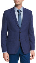 HUGO BOSS Faded Check Two-Button Sport Coat, Bright Blue