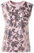 Dries Van Noten Haiko Sequin-embellished Cotton-jersey T-shirt