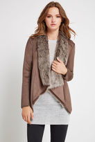 BCBGeneration Faux-Fur Collar Jacket - Brown