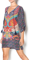 Tolani Blue Multi Tunic Dress