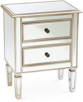 AA Importing Damon 2-Drawer Nightstand, Mirrored