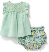 Old Navy Linen-Blend Top & Floral Bloomer Set for Baby