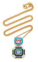 Sig Ward 18K Gold, Pink Tourmaline, Tanzanite And Enamel Necklace