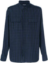 Balmain checked pocket shirt