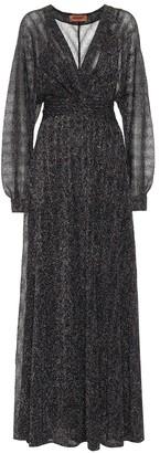 Missoni Stretch-silk lame maxi dress