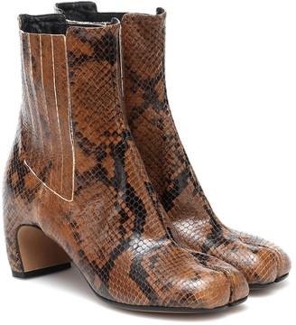 Maison Margiela Tabi snake-effect leather ankle boots