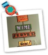 3dRose LLC qs_83206_5 Danita Delimont - Wineries - Wine tasting room - LI06 JMI0000 - Janis Miglavs - Quilt Squares