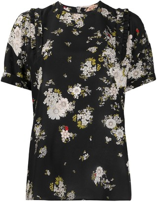 No.21 Silk Floral Print Blouse