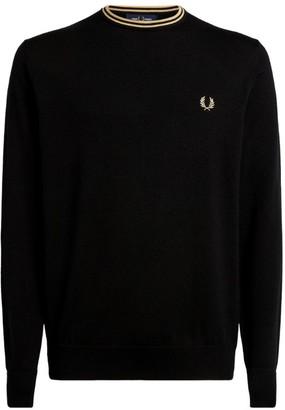Fred Perry Stripe-Trim Sweater