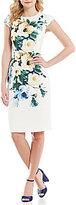 Betsey Johnson Floral Printed Cap Sleeve Dress