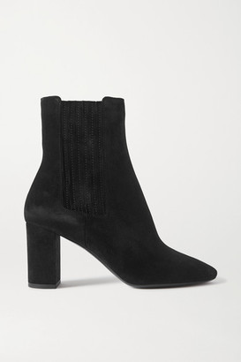 Saint Laurent Mica Suede Ankle Boots - Black