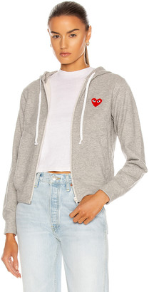 Comme des Garcons Full Zip Hoodie in Grey | FWRD