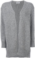 Dondup ribbed detail cardi-coat - women - Polyamide/Alpaca/Merino - XS