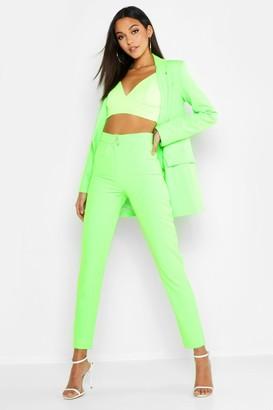 boohoo Tall Neon Dress Pants