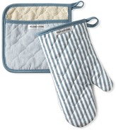 Williams-Sonoma Williams Sonoma Bay Stripe Mitt & Potholder Set, French Blue