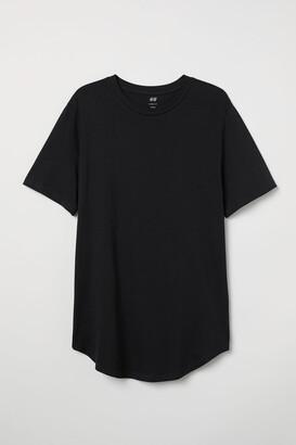 H&M Long Fit T-shirt - Black